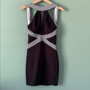 Peep Black Bandaid Dress
